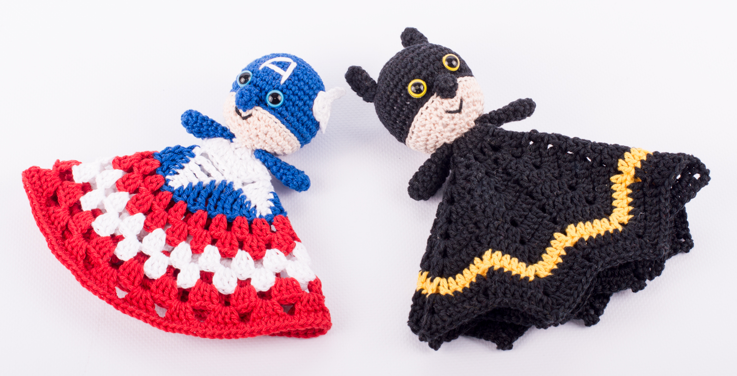 Free amigurumi pattern Captain America and Batman