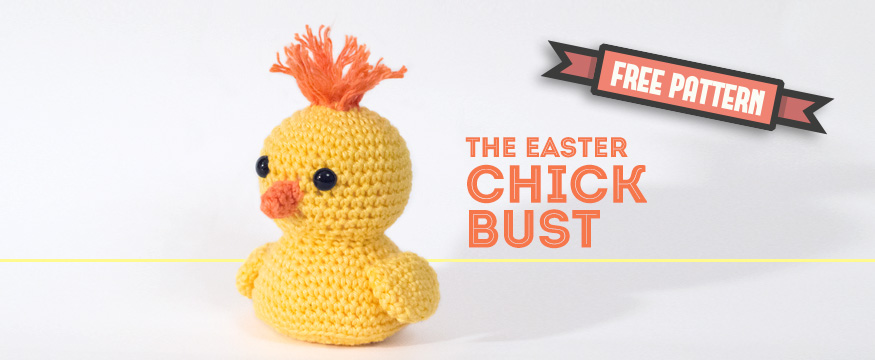Free Pattern Easter Chick Bust Dendennis Craft Designer