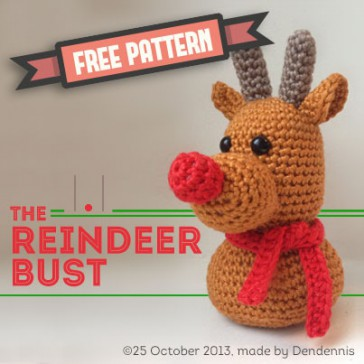 Free Pattern - winter Reindeer bust - Dendennis | craft designer ...