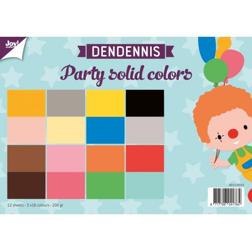 papierset Dendennis party solid colors