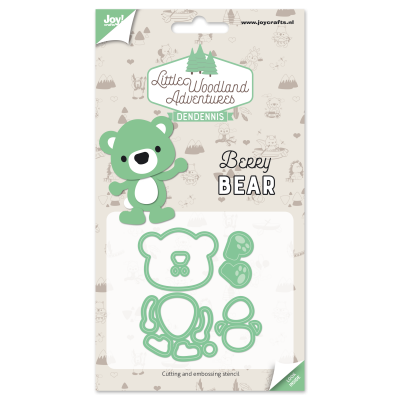 Diecut-Little woodland-bear