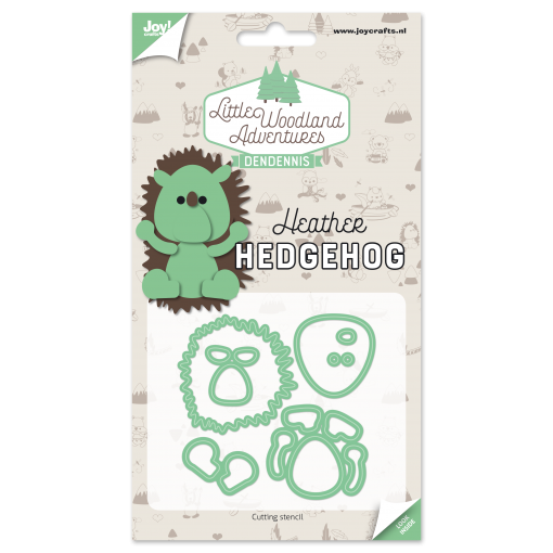 Diecut-Little woodland-hedgehog