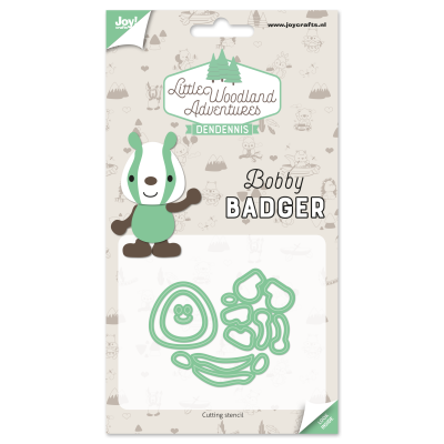 Diecut-Little woodland-badger