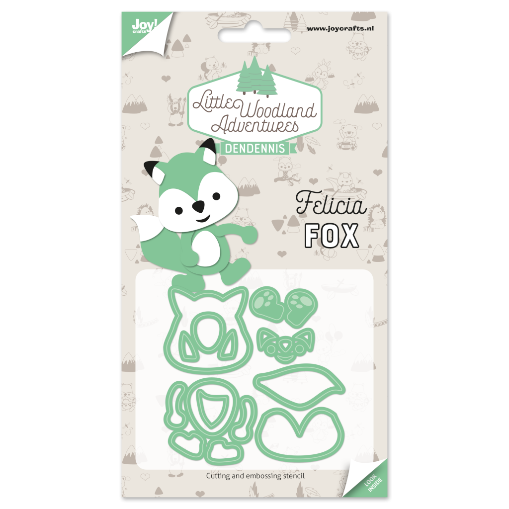 Felicia Fox diecut - lwa - fox - dendennis | craft designer - crochet