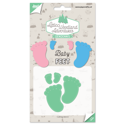 Diecut-Little woodland-baby-feet