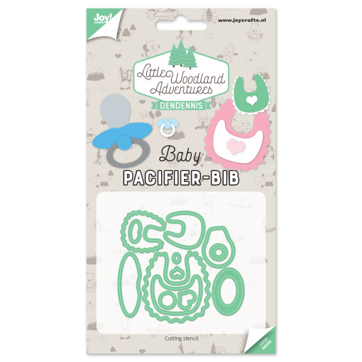 Diecut-Little woodland-pacifier-bib