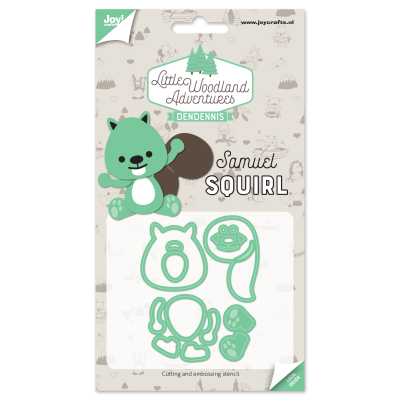 Diecut-Little woodland-squirrel