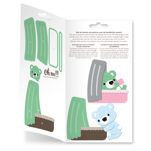 Diecut-Little woodland-cradle