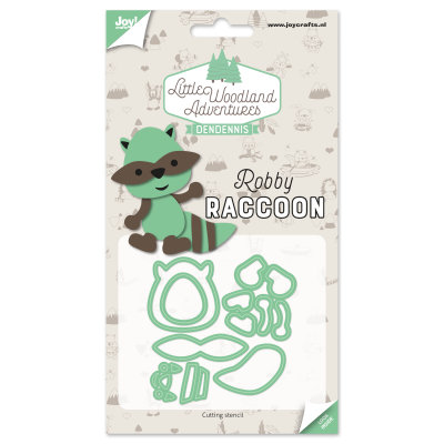 Diecut-Little woodland-raccoon